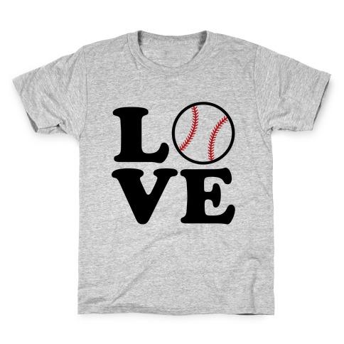 Love Baseball Kids T-Shirt