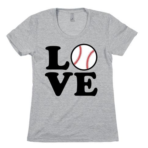 Love Baseball Womens T-Shirt