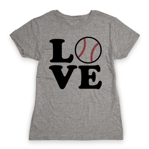 Love Baseball Womens T-Shirt