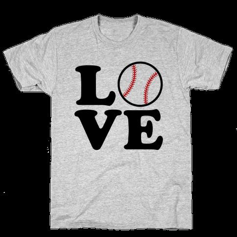 Love Baseball Mens T-Shirt