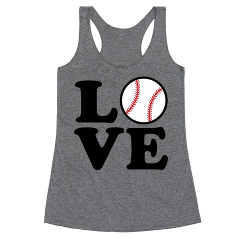 Love Baseball Racerback Tank Top