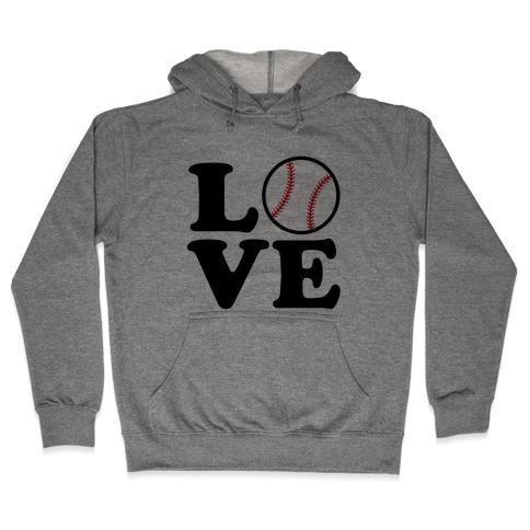 Love Baseball Hooded Sweatshirt