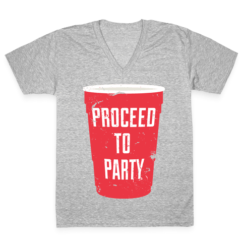 Proceed to Party V-Neck Tee Shirt