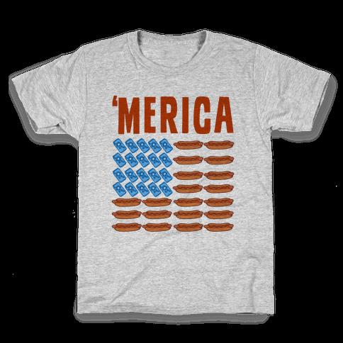 Beer, Hotdogs & 'Merica Kids T-Shirt