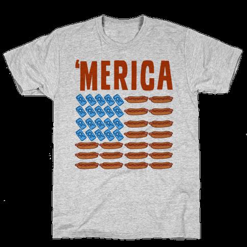 Beer, Hotdogs & 'Merica Mens T-Shirt
