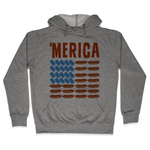 Beer, Hotdogs & 'Merica Hooded Sweatshirt