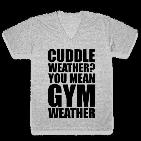 Gym Weather V-Neck Tee Shirt