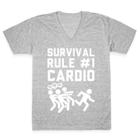 Rule One Cardio V-Neck Tee Shirt