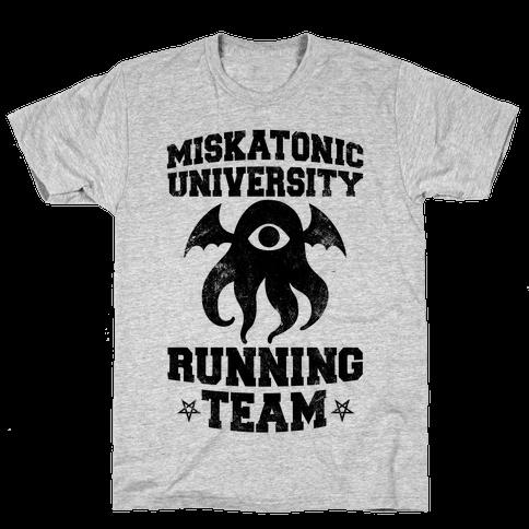 Miskatonic University Running Team Mens T-Shirt