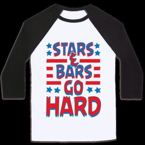 Stars and Bars Go Hard Baseball Tee