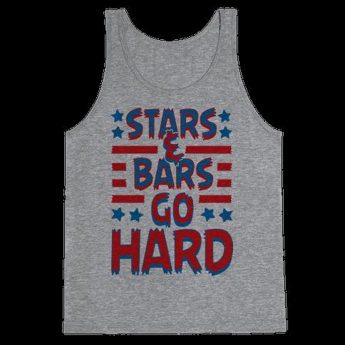 Stars and Bars Go Hard Tank Top