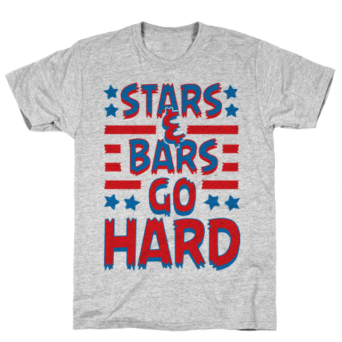 Stars and Bars Go Hard Mens T-Shirt
