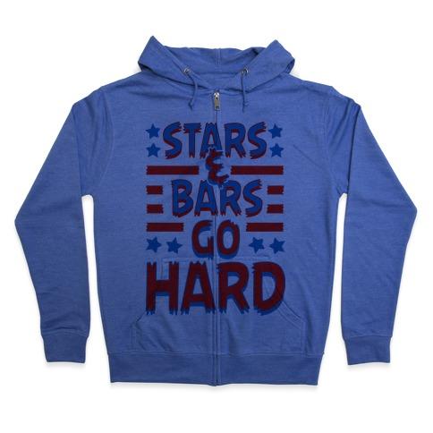 Stars and Bars Go Hard Zip Hoodie