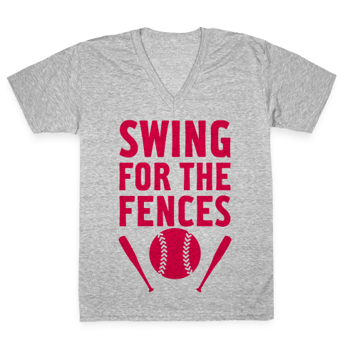 Swing For The Fences V-Neck Tee Shirt