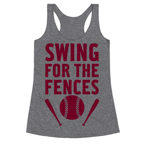 Swing For The Fences Racerback Tank Top