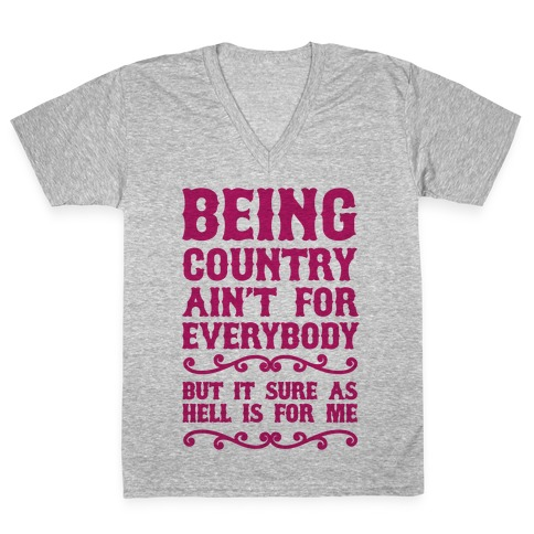 Being Country V-Neck Tee Shirt