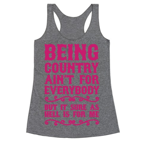 Being Country Racerback Tank Top