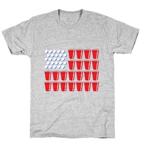 Beer Pong Flag T-Shirt