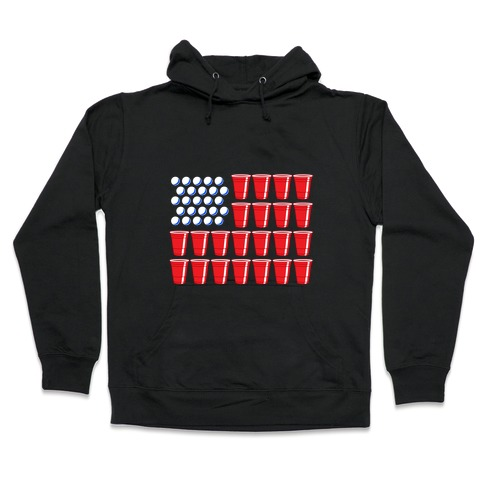 Beer Pong Flag Hooded Sweatshirt