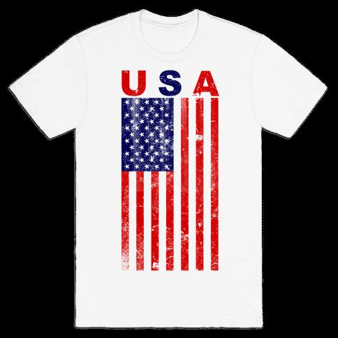 Human Usa Flag Clothing Tee