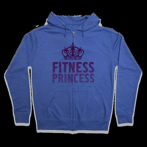 Fitness Princess Zip Hoodie