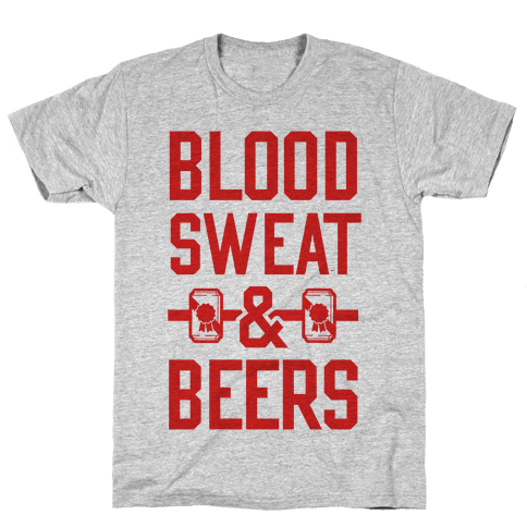 Blood Sweat & Beers Mens T-Shirt
