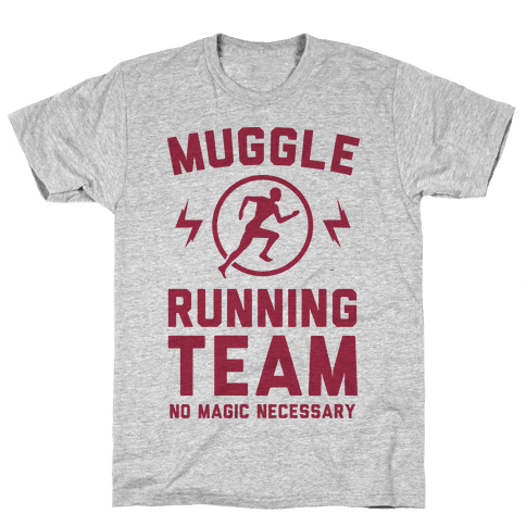 Muggle Running Team - No Magic Necessary Mens T-Shirt