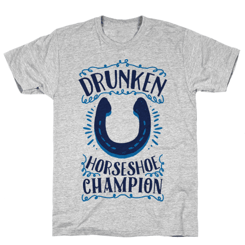 Drunken Horseshoe Champion Mens T-Shirt