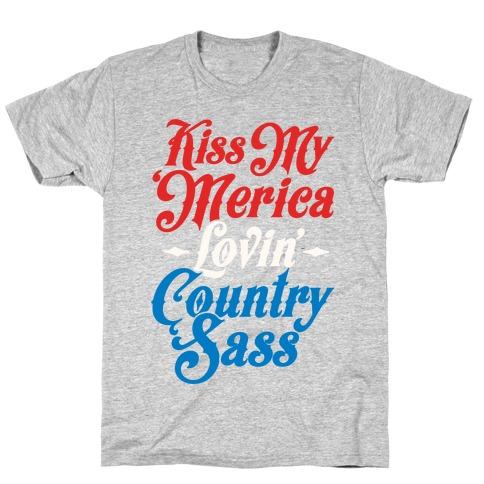 Kiss My 'Merica Lovin' Country Sass (Patriotic Tank) T-Shirt