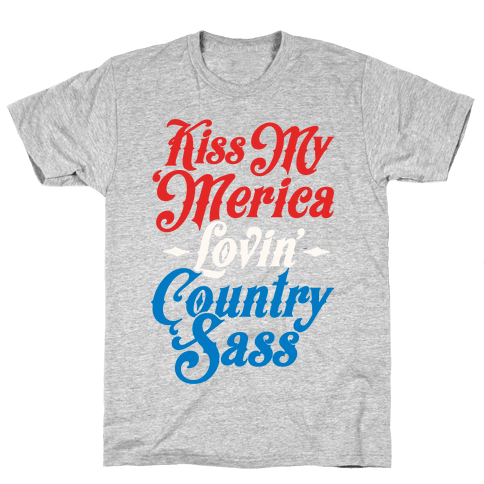 Kiss My 'Merica Lovin' Country Sass (Patriotic Tank)