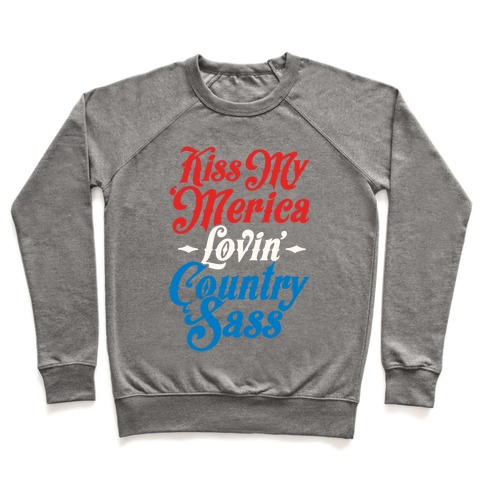 Kiss My 'Merica Lovin' Country Sass (Patriotic Tank) Pullover