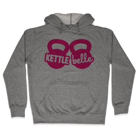 Kettle Belle Crop Top Hooded Sweatshirt