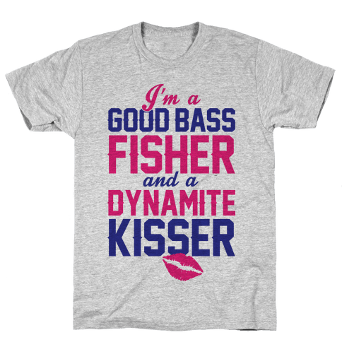 Bass Fisher And Dynamite Kisser Mens T-Shirt
