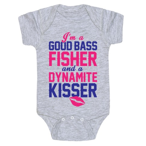 Bass Fisher And Dynamite Kisser Baby Onesy