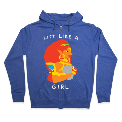 Lift Like A Girl Zip Hoodie