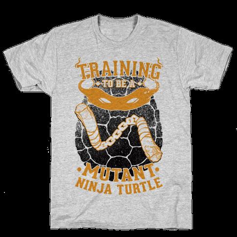 Training To Be A Mutant Ninja Turtle Mens T-Shirt