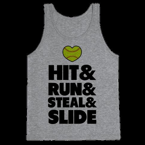 Hit & Run & Steal & Slide Tank Top