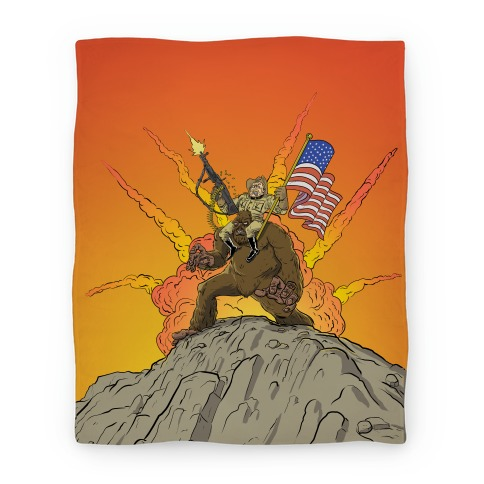 Teddy and Bigfoot: Rough Riders For Life (Blanket) Blanket