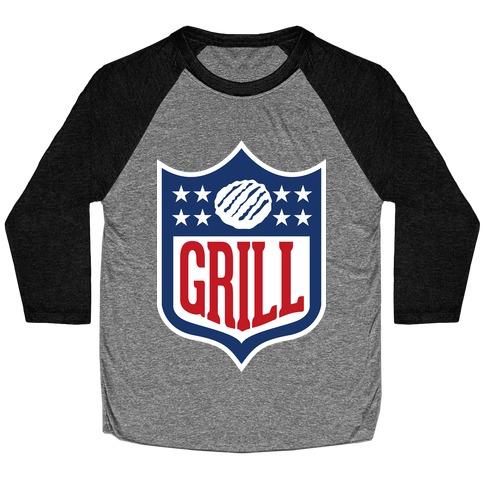 Grill League Baseball Tee