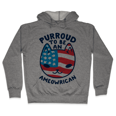 Purroud to be an Ameowrican Hooded Sweatshirt
