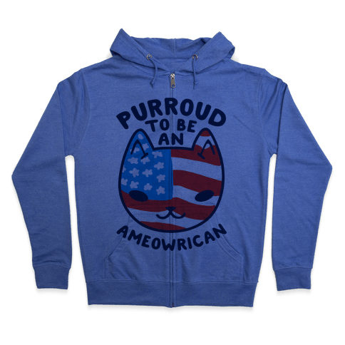 Purroud to be an Ameowrican Zip Hoodie