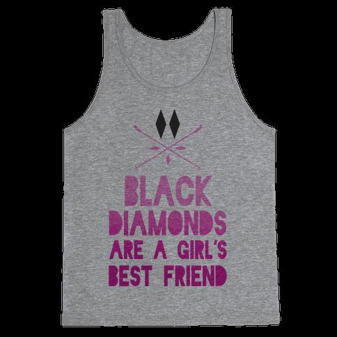 Black Diamonds are a Girl's Best Friend Tank Top