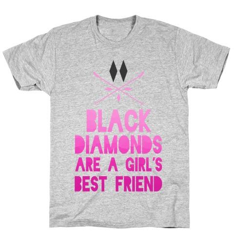 Black Diamonds are a Girl's Best Friend Mens T-Shirt