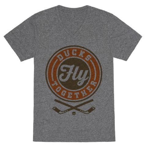 Ducks Fly Together V-Neck Tee Shirt