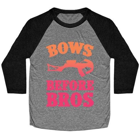 Bows Before Bros Baseball Tee