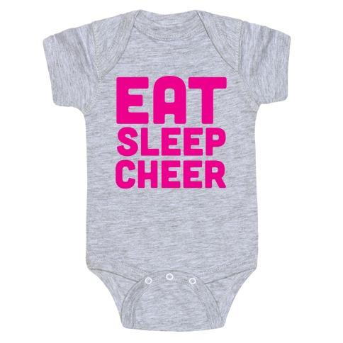 Eat Sleep Cheer Baby Onesy