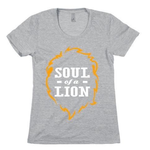 Soul of a Lion (Dark Tank) Womens T-Shirt