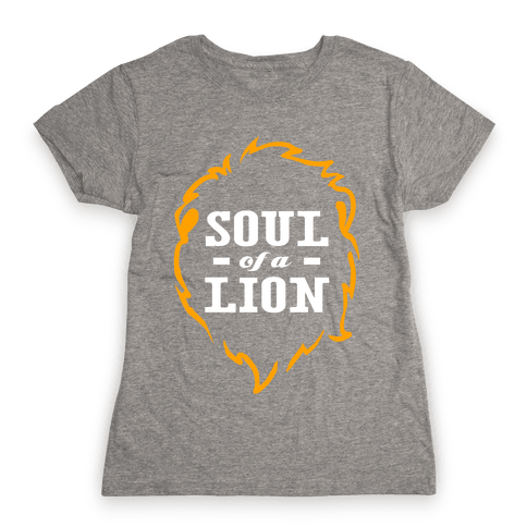 Soul of a Lion (Dark Tank) Womens T-Shirt