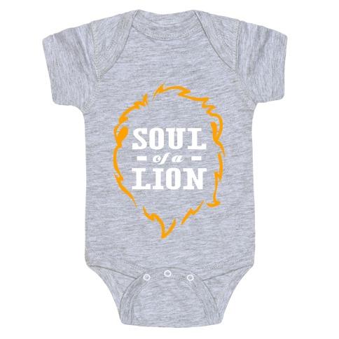 Soul of a Lion (Dark Tank) Baby Onesy