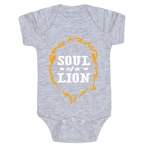 Soul of a Lion (Dark Tank) Baby Onesy